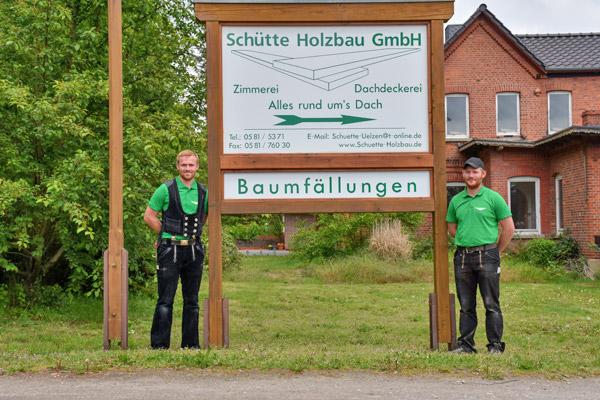 Schütte Holzbau Uelzen - Firmenschild