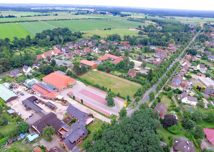 Schütte Holzbau Uelzen von oben - Luftbild