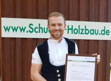 Zimmerer-Meister Julian Schütte