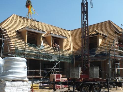 Schütte Holzbau Uelzen - Richten von Dachstühlen